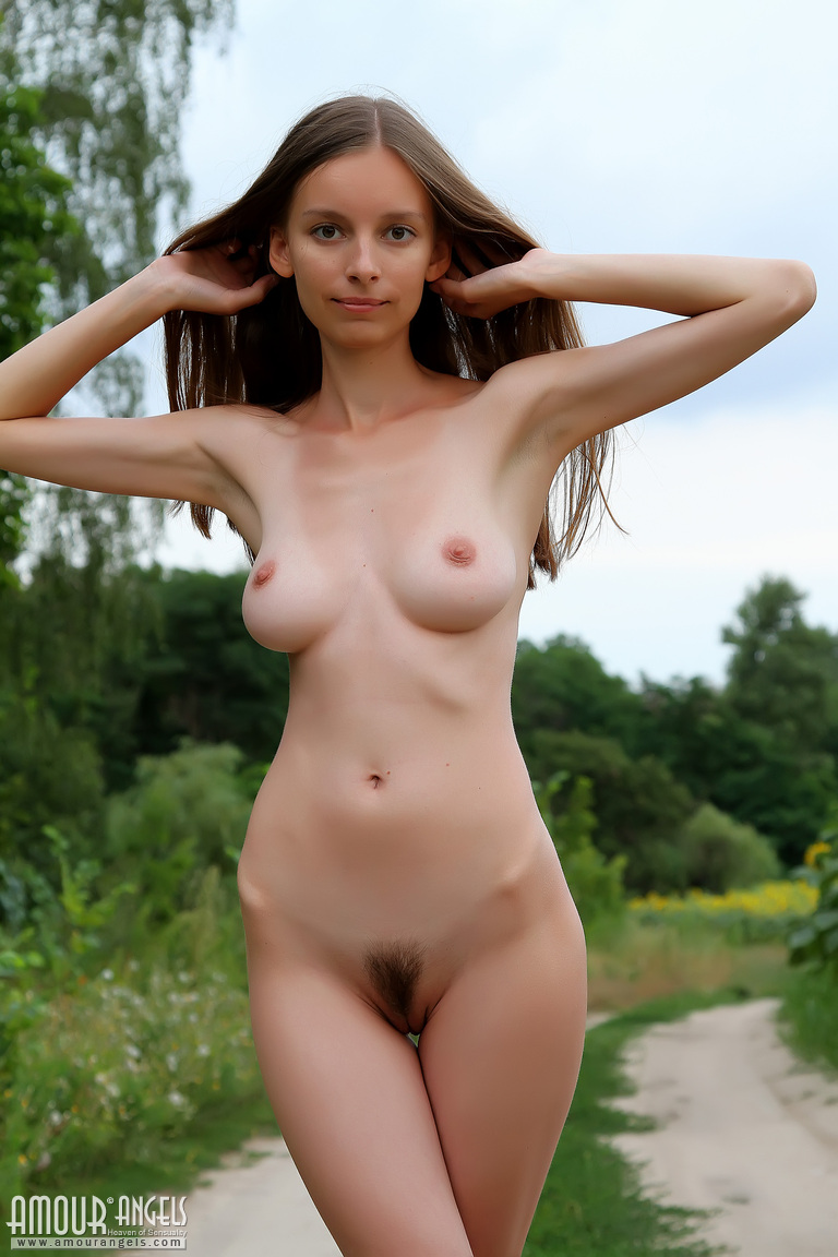 Young firm bare breasts for